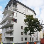 Hörnet Plankgatan-Slottsgatan mot Folkparken